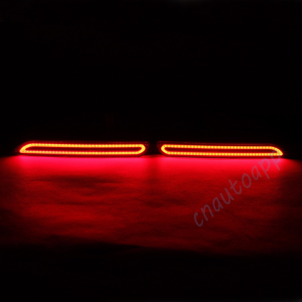 LED Rear Bumper Warning Lights COB Car Brake Lamp For Toyota Camry 2007-14 / Reiz 10-13 / Sienna / verso / Avalon /Urban cruiser car styling tail lights for toyota highlander 2015 led tail lamp rear trunk lamp cover drl signal brake reverse