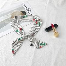 Осенью и зимой леди в Корейском стиле различных профессиональных украшения стюардесса шифон Цвет Многофункциональный шелковые шарфы из органической кожи