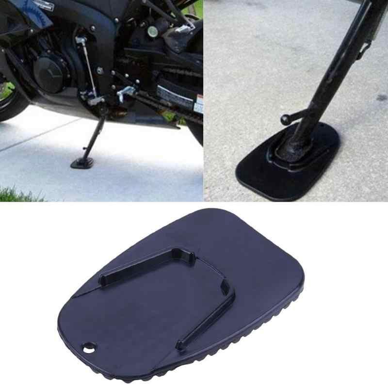 Universal Moto Moto Bicicleta Kickstand Descanso Lateral Placa Pad Não-deslizamento Lateral Extensão Suporte Almofadas Do Pé de Plástico Acessórios de Moto