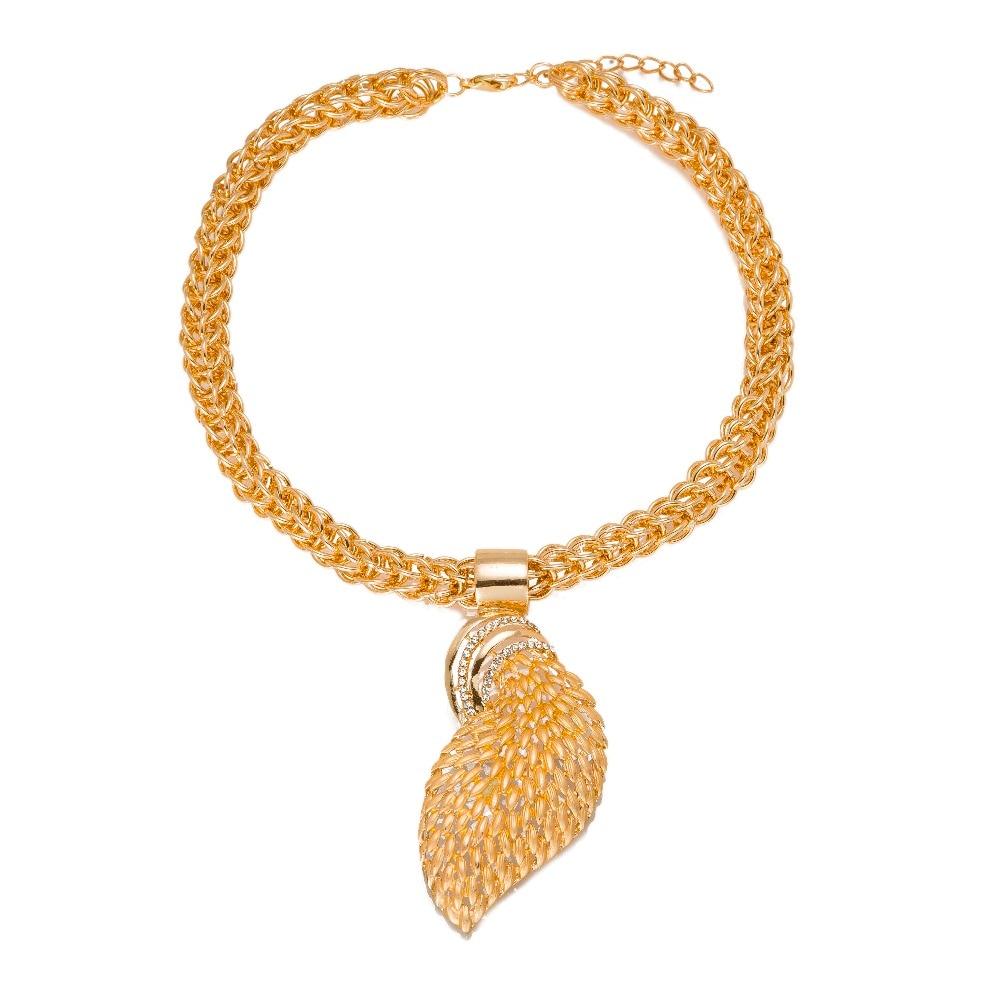 MUKUN ženski nakitni kompleti zlata barva modna izjava ogrlica Dubai - Modni nakit - Fotografija 2