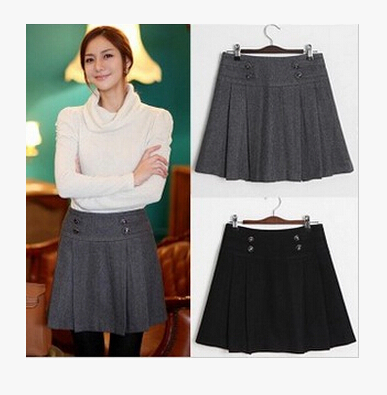 Popular Fashion Pleated Skirt Women Short Skirts Winter-Buy Cheap ...
