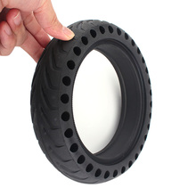 For Xiaomi Mijia M365 Scooter Skateboard Tyre Solid Hole Tires Shock Absorber Non-Pneumatic Damping Rubber Tyres Wheels Durable xiaomi mijia m365 electric scooter skateboard damping solid tyres with wheels hub hollow non pneumatic tires for rear wheel