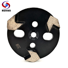 RIJILEI 3PCS/Set 4inch Diamond Grinding Block for Concrete floor Shoes Stone grinding disk ZJ04