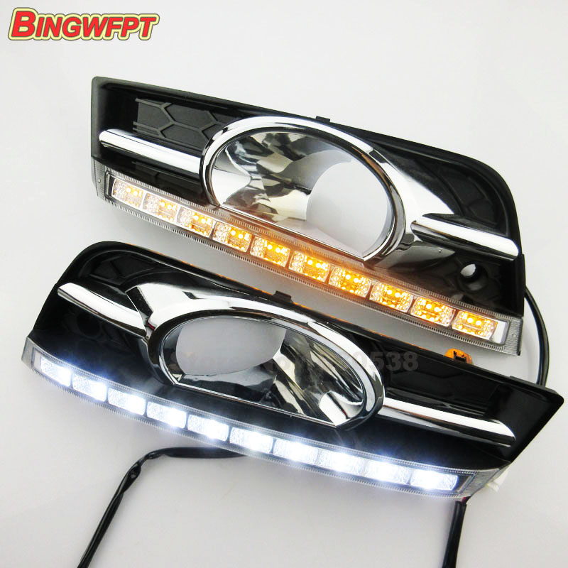 2PCS/pair Turn signal drl and dimming style relay Daytime Running Lights for Chevrolet Cruze 2010 2011 2012 2013 with fog lamp цены