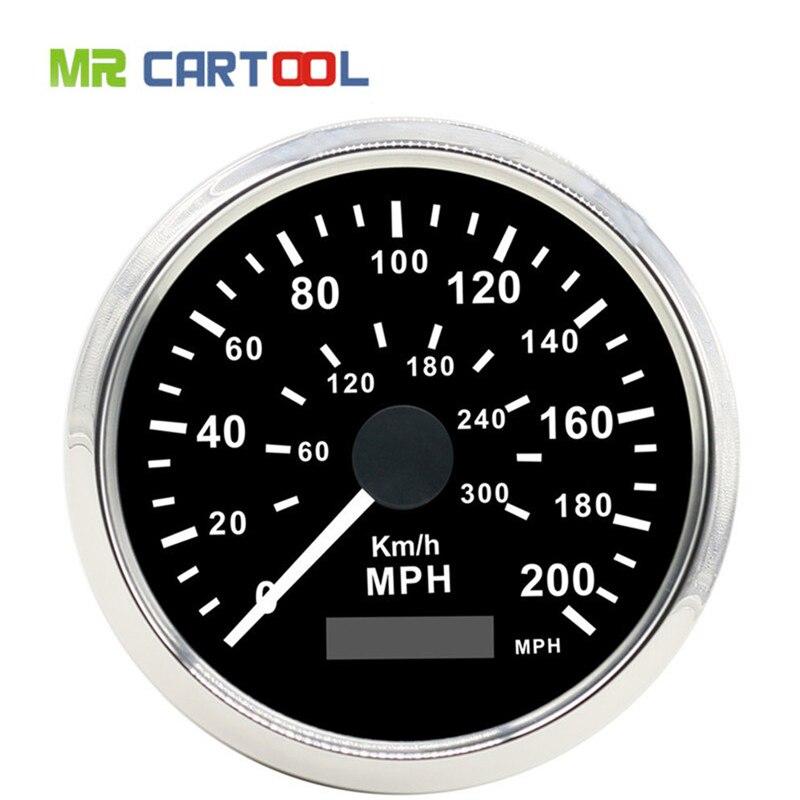 85 мм GPS спидометр с GPS Compteur нержавеющей Водонепроницаемый Датчик 300км/ч 200MP/ч автомобиль грузовик 85мм 12В 24В
