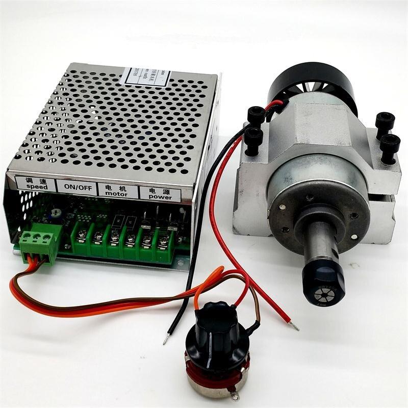 300 W cnc moteur de broche + 220 v/110 v/220 v mach3 alimentation + 52mm pinces + 1 set ER11
