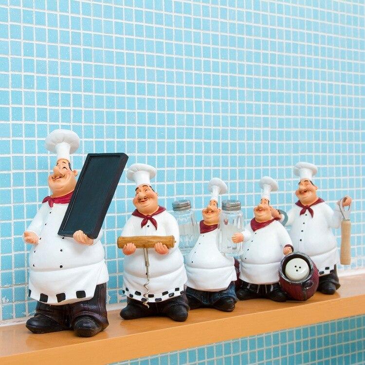 US $14.77 26% OFF|Zakka Kitchen Accessories Chef Style Home Restaurant Bar  Cafe Decorative Fashion Vintage Home Decoration Accessories-in Figurines &  ...