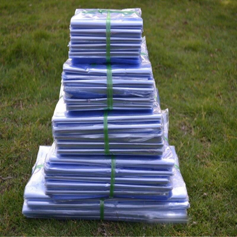 60*80 cm 50 pièces Transparent soufflage PVC thermorétractable sac pellicule de film emballage cosmétique Wrap Transparent plastique rétractable sac