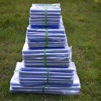 60*80cm 50Pcs Transparent Blow Molding PVC Heat Shrinkable Pack Bag Film Wrap Cosmetic Packaging Wrap Clear Plastic Shrink Bag