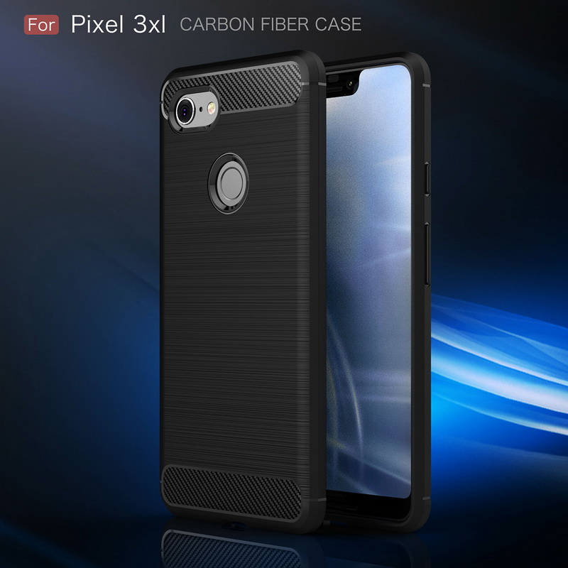 Carbon Fiber Phone Case For Google PIXEL 3 XL Soft Silicon Anti-Kncok Back Cover For Nexus PIXEL 2 XL 3 Anti-Skid Cases