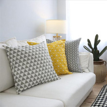 Nordic Style Bohemia Geometry Pattern Printed Throw Pillow case Linen Cotton Cushion Cover decoration for Sofa Car covers