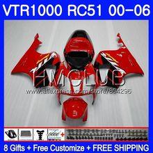 Обтекатель для HONDA VTR1000 2000 2001 2002 2003 2004 2005 2006 80HM. 2 RTV1000 VTR 1000 фабрики «Красный RC51 SP1 SP2 01 02 03 04 05 06