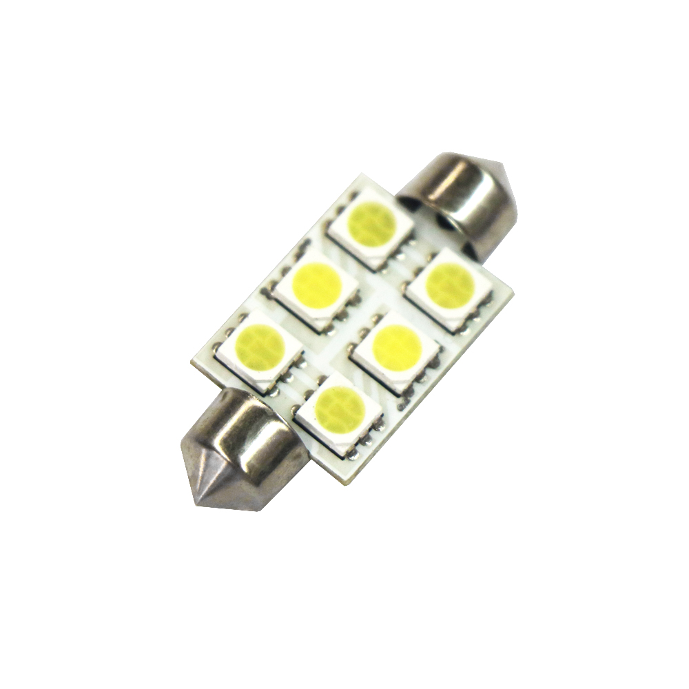 Image 3 - 10pcs Festoon 39mm LED 5050 Auto Lamp Bulb 3W 6 SMD 6000k 200lm White Light Car Reading 5050 / Indicator/Roof Lamp (DC/12V)-in Signal Lamp from Automobiles & Motorcycles