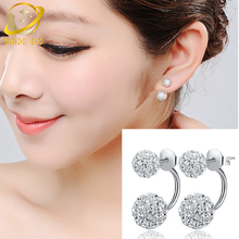 rhinestone earrings for women boucle d'oreille korean stud earings fashion jewelry aretes oorbellen shamballa earrings