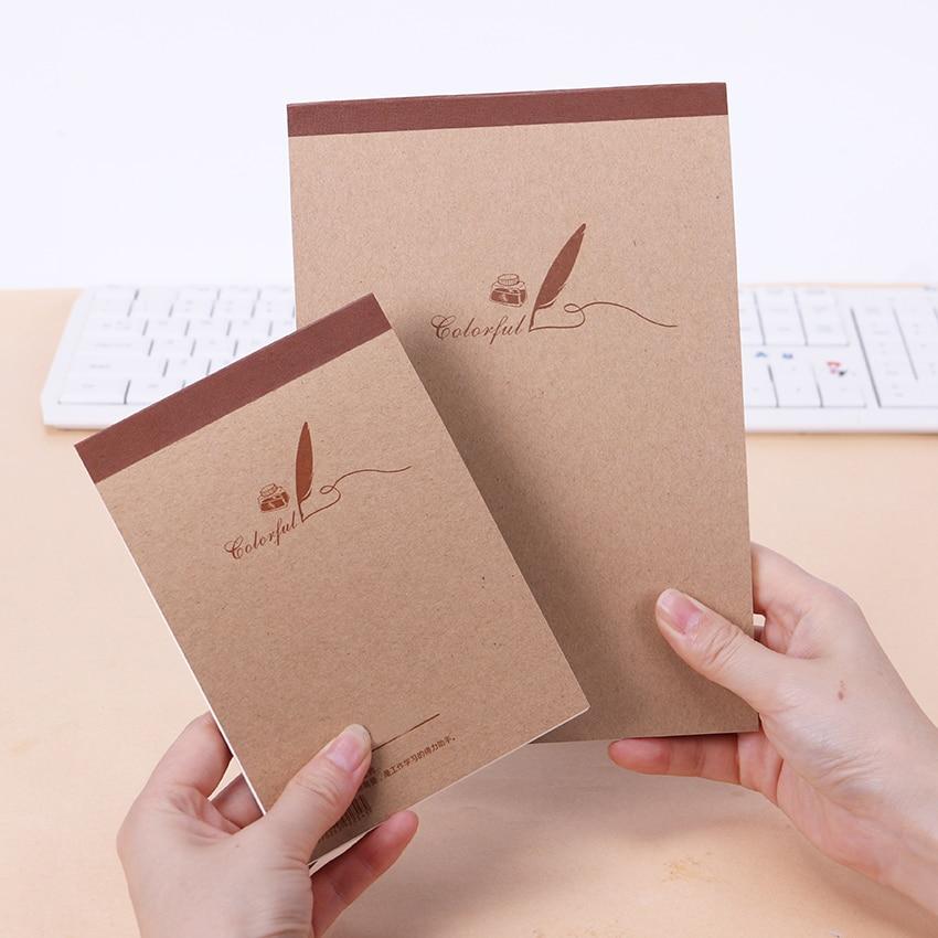 1PC(60 Sheets)Retro Kraft Sketch Sketchbooks Graffiti Blank Notebook Creative Notebook Notepad Book Diary Book School Stationery