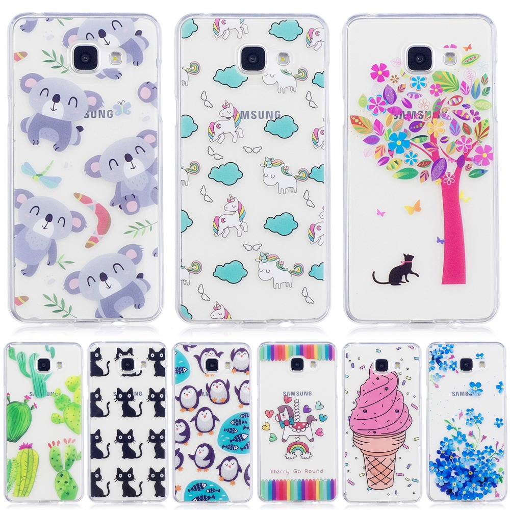 For <font><b>Samsung</b></font> <font><b>Galaxy</b></font> <font><b>A5</b></font> 2016 Case Soft Silicone TPU For <font><b>Samsung</b></font> A52016 A510 A510F A <font><b>510</b></font> CASES Phone Protective Back Cover Case image
