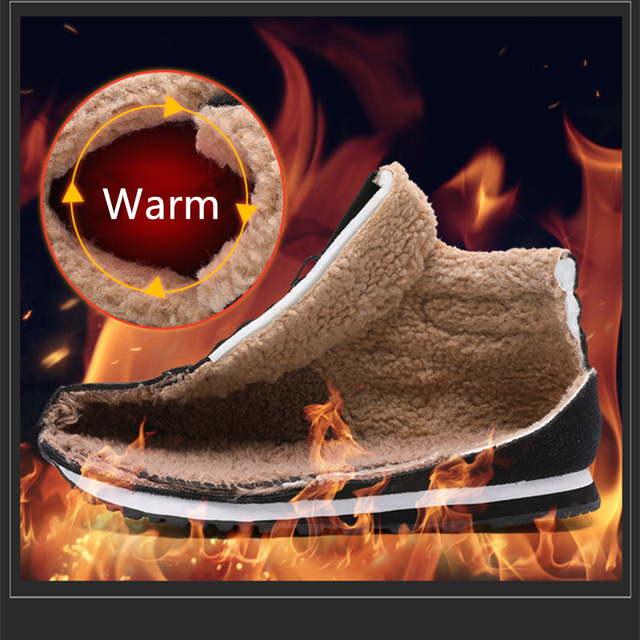 CcharmiX Big Size Men Shoes 2018 Top Fashion New Winter Casual Ankle Boots Warm Winter Fur Man Snow Boots Flock Leather Footwear 1