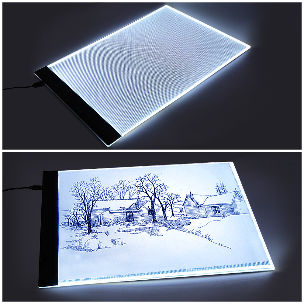 Portable USB Powered Ultra-thin A4 LED Eyesight-protected Artists Drawing Pad Animation Tracing Light Box Tablet Board Stencil various artists various artists mamma roma addio