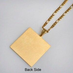 Image 4 - Anniyo Imam Ali Sword Pendant Necklace for Women/Men Muslim Islam Allah Jewelry Gold Color Arab Knife Wholesale #012421