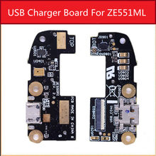 "Hot Sale Genuine USB Charging Microphone PCB Connector Port Jack Board For Asus Zenfone 2 ZE551ML Z550ML 5.5""Usb Charge(China)"