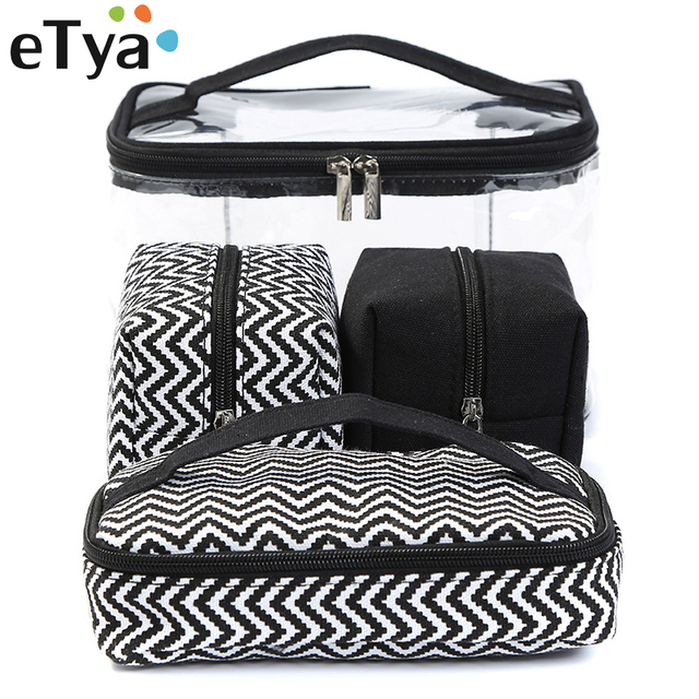 d1919b639f1 eTya Men Women Transparent Cosmetic Bag Travel Portable Multifunctional  Makeup Wash Bag Clear PVC Storage Handbag Canvas Bag Box