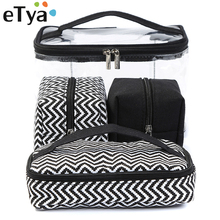 eTya Men Women Transparent Cosmetic Bag Travel Portable Mult