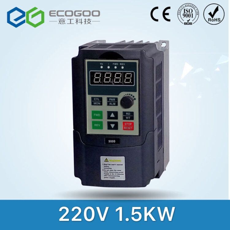 Frequency Converter 1.5KW Inverter single phase Input 220v 3-phase output motor with control line frequency inverter 5 5kw 220v single phase input 220v three phase output 5 5kw frequency converter