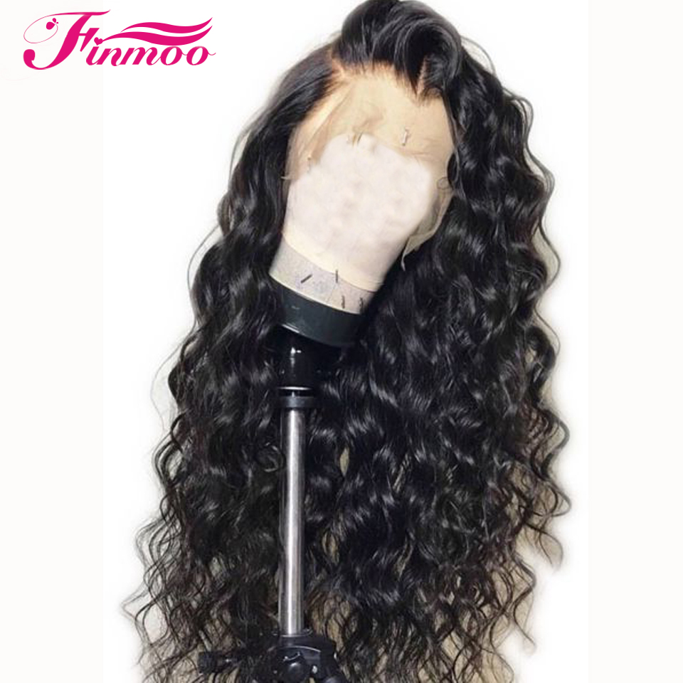 Loose Wave Full Lace Wig Malaysia Remy Hair With Baby Hair Bleached Knots Full Lace Human Hair Wigs Pre Plucked Hairline 180%(China)