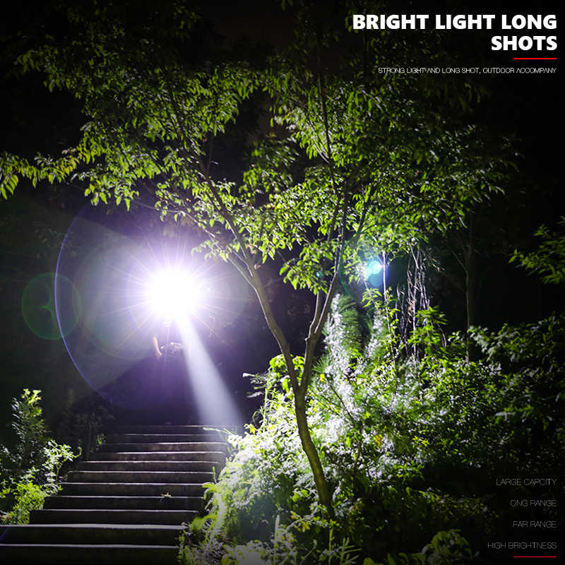 Супер яркий 20000LM светодиодный светильник фонарь с возможностью масштабирования Тактический светильник s linterna велосипедный светильник с подзарядкой 18650