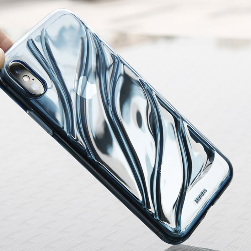 BASEUS Brand Water Modelling Soft TPU Back Case For iPhone X / For ...