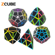 ZCUBE Carbon Fiber Speed Magic Cube Pyraminx Dodecahedron Axis Cube Educational Learning Toy Puzzle Magico Cubo