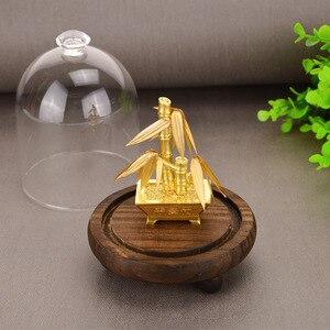 Image 4 - 24K 골드 호일 머니 트리 풍수 분재 인공 식물 장식 포춘 트리 럭셔리 비즈니스 선물 홈 인테리어 축하