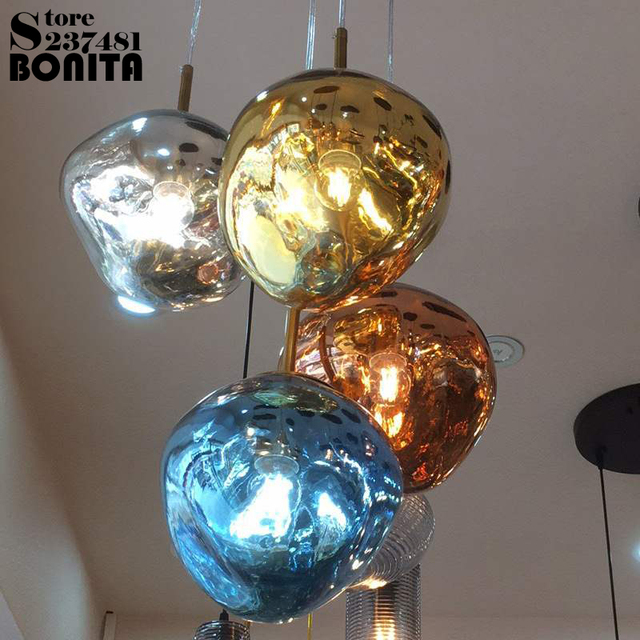 TOM DIXON Glass lava pendant lamp modern Irregular glass ball pendant lights dinning room Light refraction droplight loft