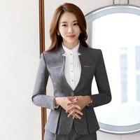 New Korean Ladies Blazer jackets White 3XL Plus Size One Button Slim Office Blazers For Women Suit Coat Long Sleeve Coat