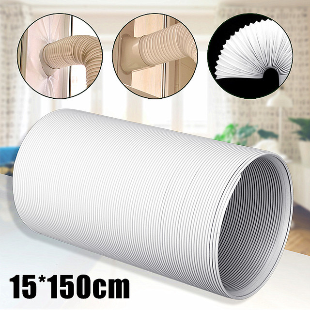 """1.5M Universal Exhaust Hose Tube Ventilation Pipe For Portable Air Conditioners 6"""" Vent Hose Part Telescopic Intake Exhaust Duct"""