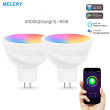 WiFi Smart LED Light Bulb Reflector Spoltlight 50W Equivalent RGB Cold White MR16 Homekit Remote Control Decorative Lamp-2Pack(China)