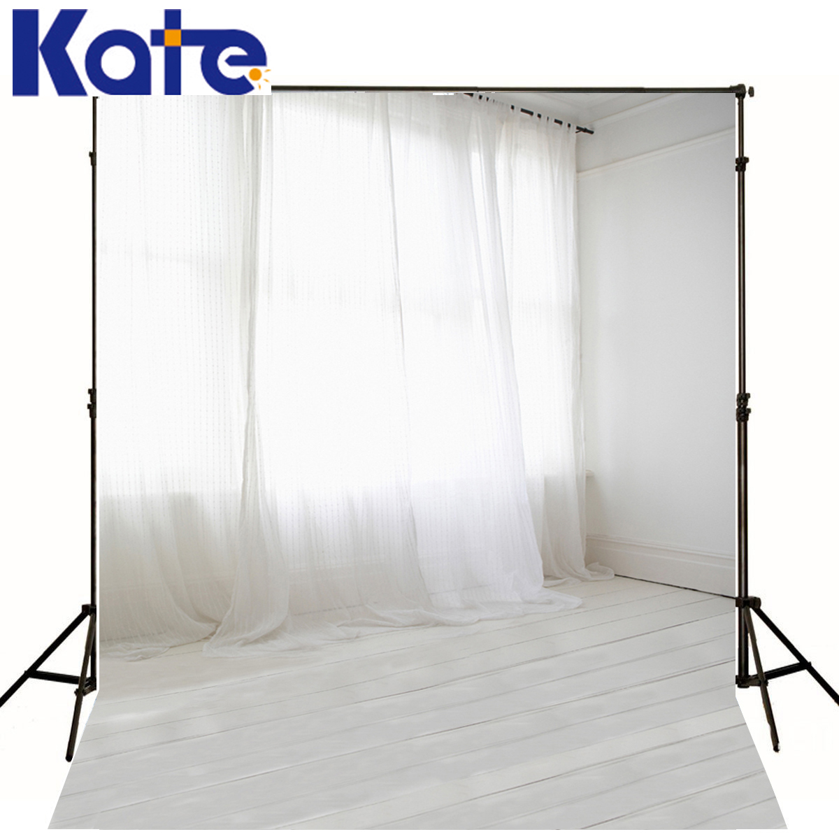 KATE Indoor Wedding Photography Backdrop Window White Wall Children Photo Background Mooden Floor Curtains Photo Studio Backdrop kate shabby window backdrop for photography portable cotton photographic studio props gothic indoor background 5x7ft