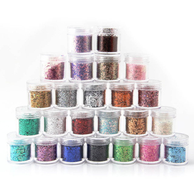 Hot Sale 24 Colors Optional Metal Shiny Nail Glitter Nail Decoration