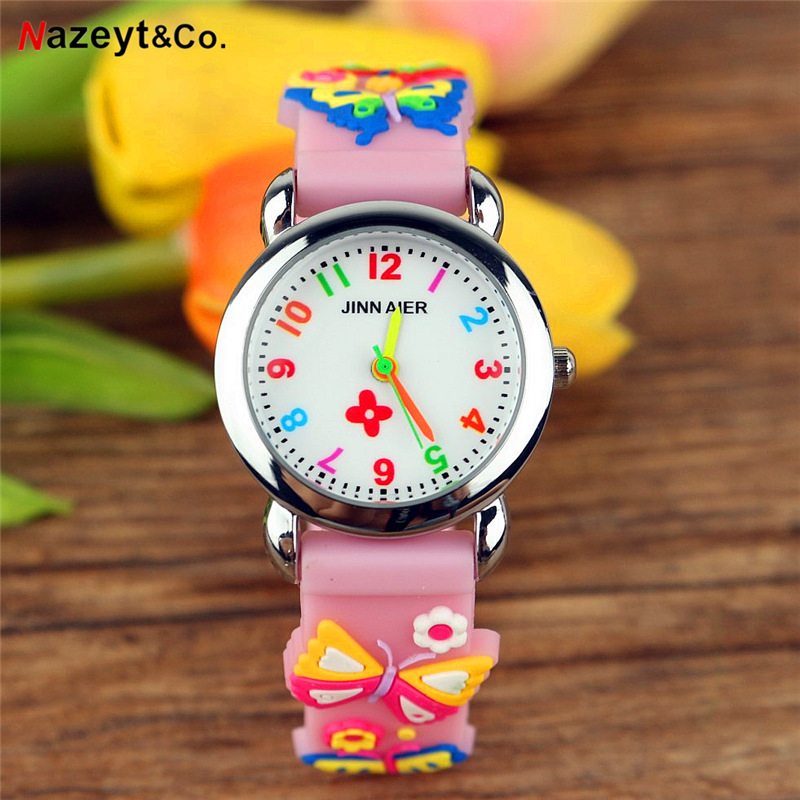 2019 New Arrived Kids Quartz Watch Children Flower Simple Dial 3D Jelly Watch Little Boys Girls Easy Learn Time Silicone Clock