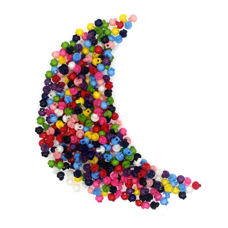 Marka SHINE 100 sztuk żywica szycia Mini przycisk Scrapbooking kształt grzyba mieszane 2 otwory Costura Botones bottoni botoes JS8007 5mm