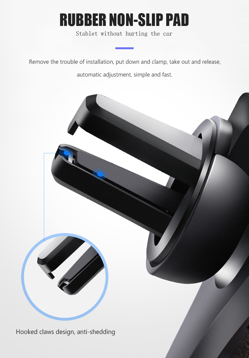 KCAR1017_14_Universal Car Phone Holder For Phone In Car Air Vent Mount Stand No Magnetic Mobile Holder Gravity Bracket for iPhone XS XR Huawei