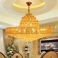 Золотые K9 хрустальные люстры осветительный прибор большие круглые золотые Кристальные лампы для люстры домашние люстры D75cm/D100cm AC90V-260V