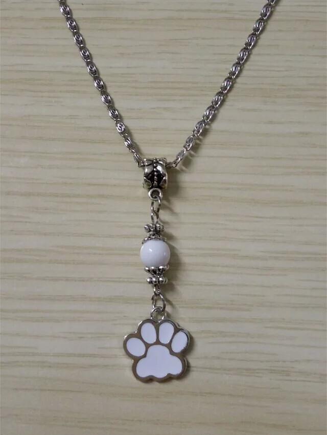Dog Paw bead necklace
