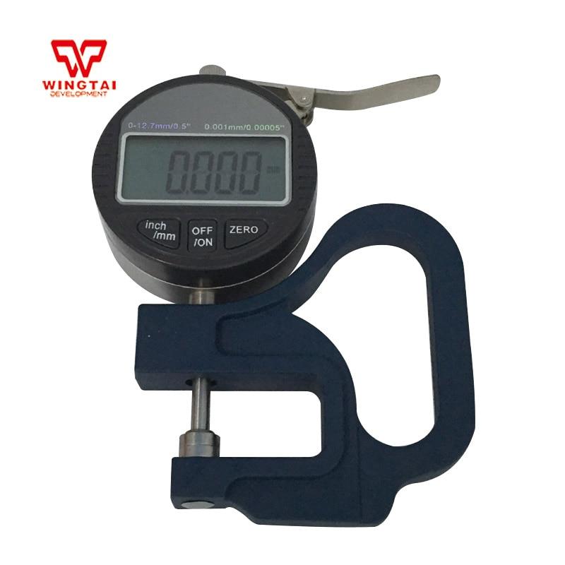 0-10mm Digital Micron Thickness Gauge 0.001mm Plastic Film Thicknes Tester