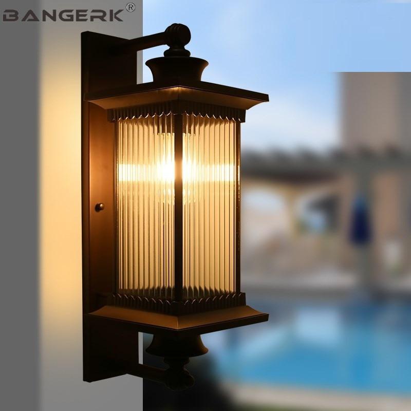 Европа Наружное освещение Настенные светильники IP65 Водонепроницаемый Антикоррозийная светодиодный Светильники для крыльца стены садовый