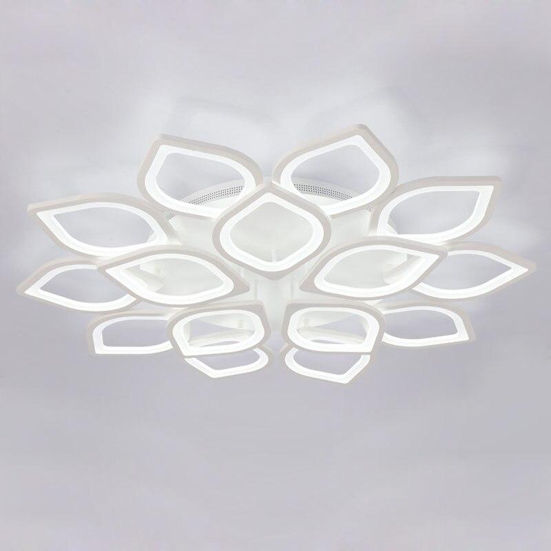 Acrylique moderne Led Lustre De Plafond Avec Télécommande Salon Chambre Lampe Luminaires Décoration D'éclairage À La Maison 220 v