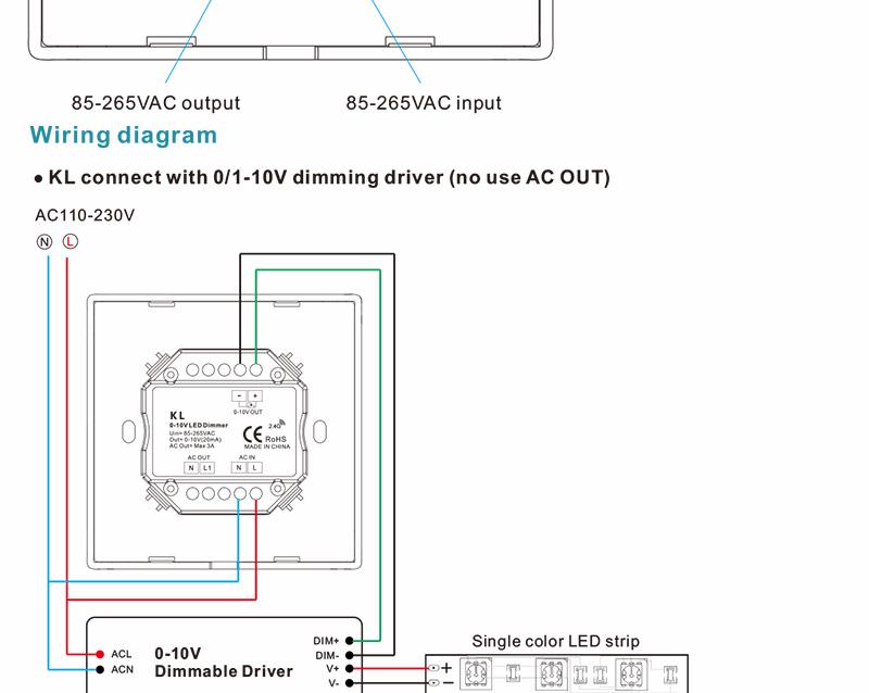 free shipping kl wall mounted knob ac85 265v 0 10v led dimmer output rh aliexpress com