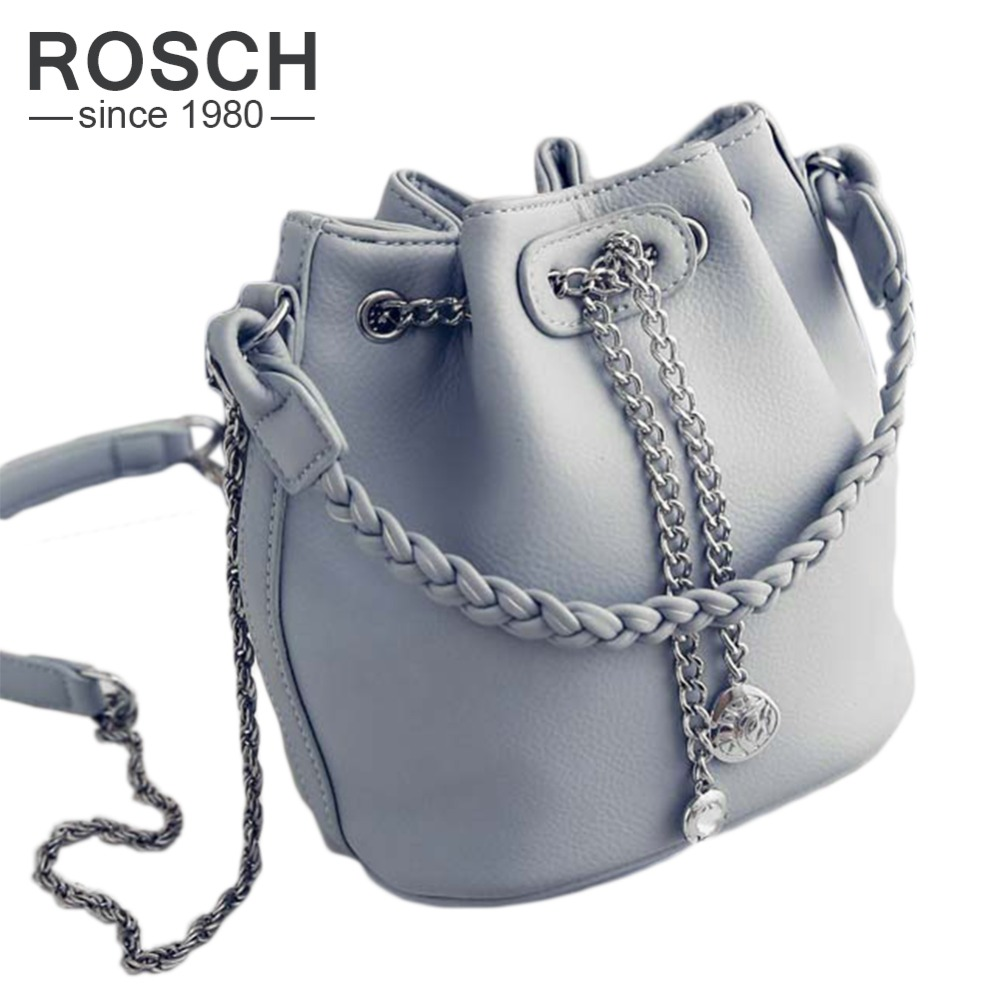 2016 new fashion women chain bucket bag korean style female woven handbag casual ladies shoulder Korean style fashion girl bag
