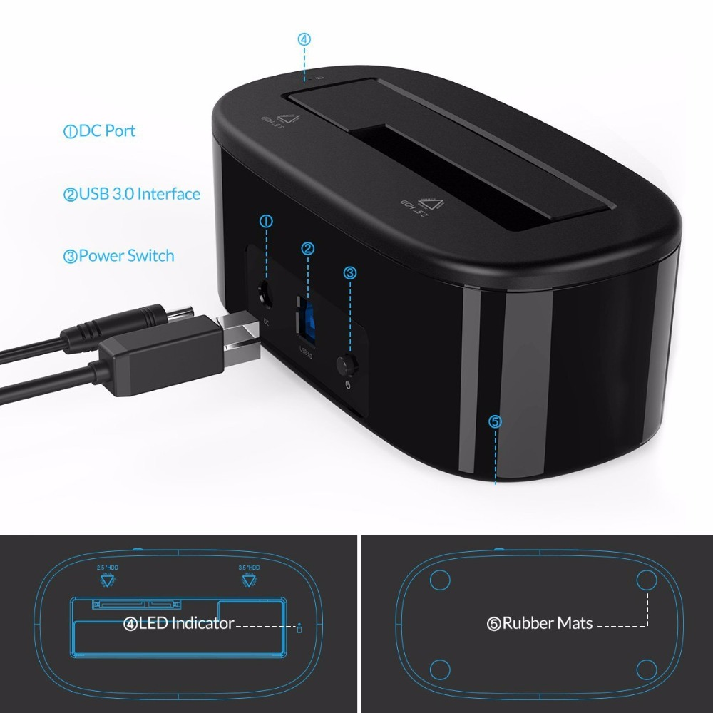 ORICO USB 3.0- ից SATA Արտաքին կոշտ սկավառակի - Արտաքին պահեստավորման սարքեր - Լուսանկար 5