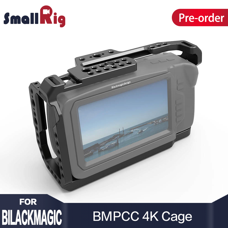 SmallRig Cage for Blackmagic Design Pocket Cinema Camera 4K BMPCC 4K With NATO Rail Thread Holes for DIY Options 2203 smallrig mount for samsung t5 ssd card holder mount compatible with smallrig cage for bmpcc 4k 2203 2245